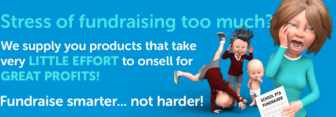 Stress of fundraising too much? We supply you products that take very little effort to onsell for great profits.