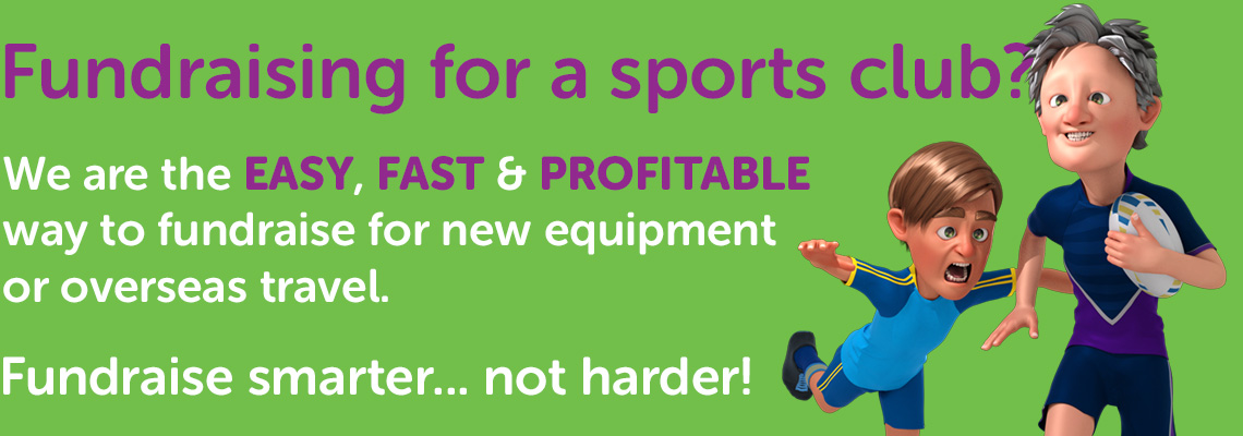Fundraising for a sports club? We are the easy, fast and profitable way to fundraise for new equipment or overseas travel.