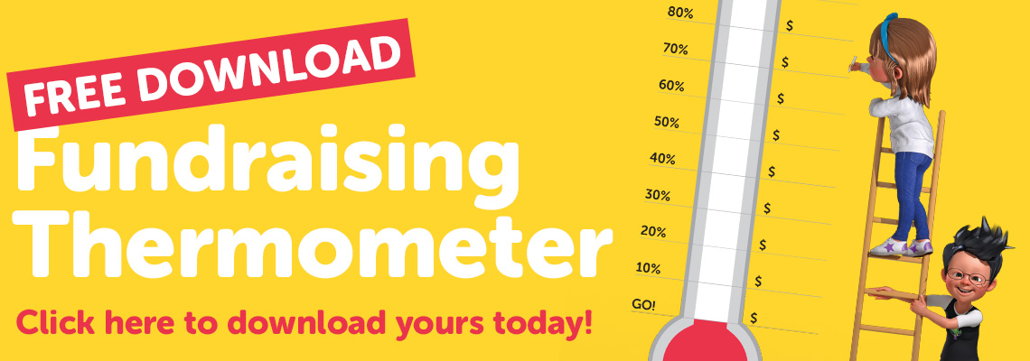 Download your free Fundraising Thermometer Poster.
