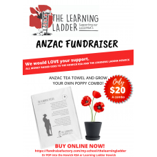 Anzac Tea Towel & Grow a Poppy Combo