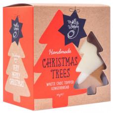 Festive Christmas tree ginger bread cookies