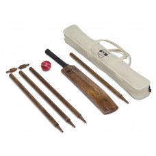 Retro Wooden Backyard Cricket Set