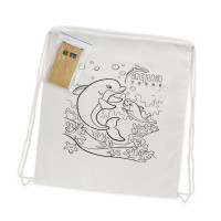 Cotton Colouring Drawstring Backpack