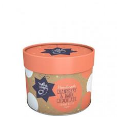 Festive cranberry & dark chocolate (small cylinder)