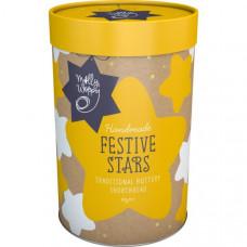 Festive stars shortbread cylinder