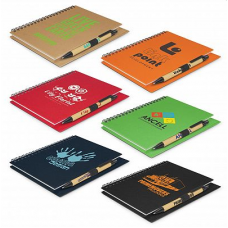 Craft Cardboard Notebook & Pen Set