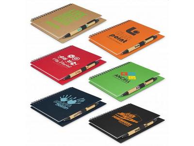 Craft Cardboard Notebook & Pen Set