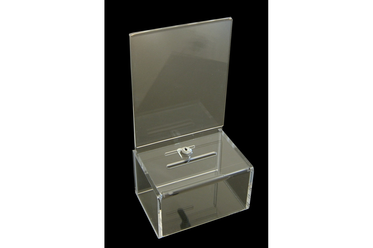 Acrylic Offering Boxes : Acrylic donation boxes fundraise factory