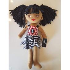 Soft Maori Toy Mascot Girl Doll