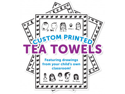Custom Tea Towels - Kids drawings